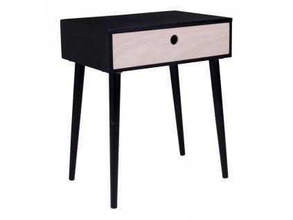 Černý/přírodní noční stolek Macy