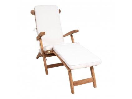Bílý sedák pro skládací zahradní lehátko Arekimo