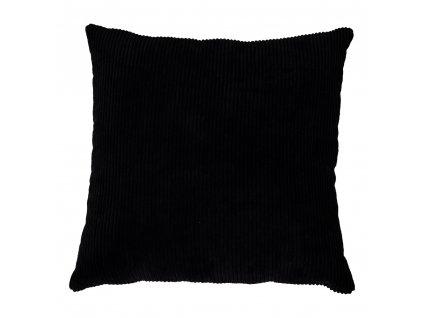 Černý manšestrový polštář Reja