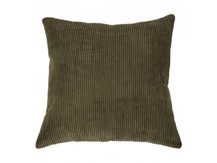 Zelený manšestrový polštář Reja