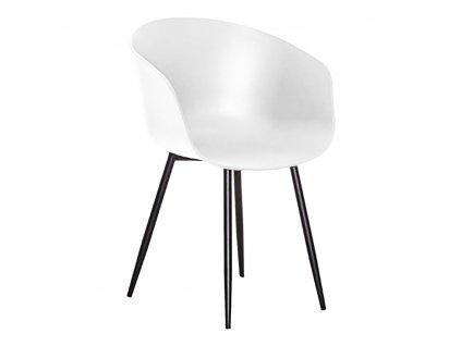 Bílá jídelní židle Rijko