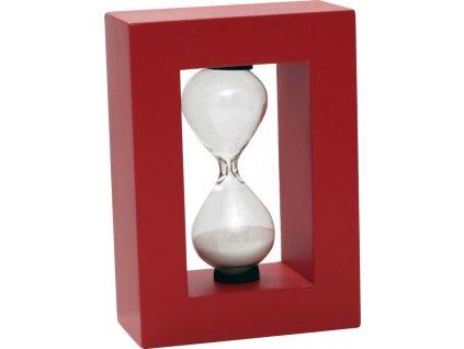 Červené dekorační přesýpací hodiny 60s Mauro Ferretti