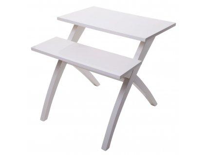 Bílý dvouúrovňový odkládací stolek Mauro FerrettiLane