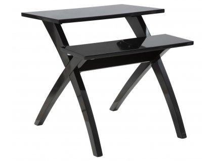 Černý dvouúrovňový odkládací stolek Mauro FerrettiLane