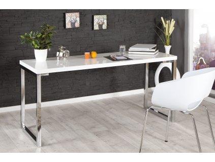 Psací stůl Lapon, 160 cm, bílá