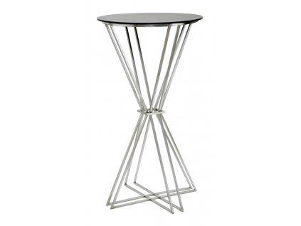 Barový stolek Mauro FerrettiOrto 60x105 cm, stříbrná/černá
