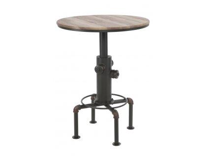 Barový stolek Mauro FerrettiKamar 81x106 cm, černá/přírodní