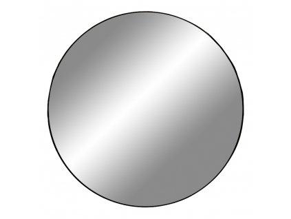 Černé nástěnné zrcadlo Jarrko Black 100 cm