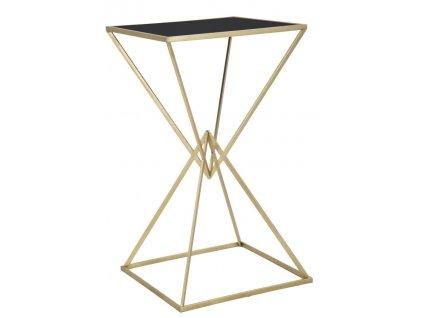 Barový stolek Mauro Ferretti Pyrmo 60x60x105 cm, zlatá/černá
