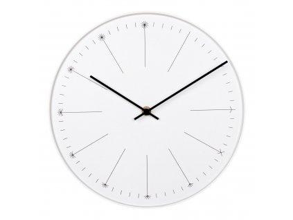 Bílé nástěnné hodiny Enok 30 cm