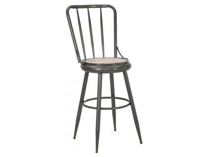 Barová stolička Mauro Ferretti Munich A 43x51x107 cm, tmavě šedá/přírodní