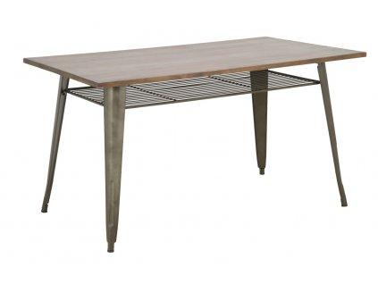Jídelní stůl Mauro FerrettiHarim L 140x80x75 cm, tmavě šedá/přírodní