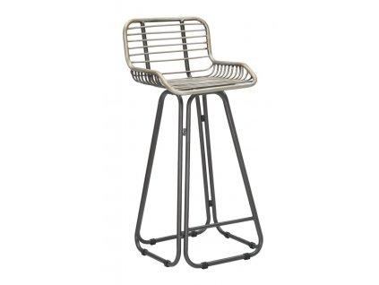 Barová stolička Mauro Ferretti Dara 45x45x102 cm, tmavě šedá/zelená
