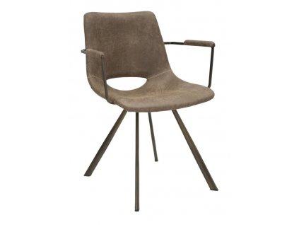Hnědá jídelní židle Mauro Ferretti Terest 56x59x78 cm