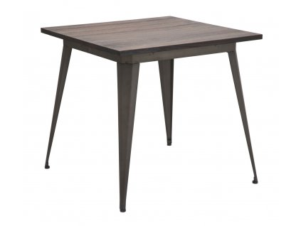 Hnědý jídelní stůl Mauro FerrettiTalom 80x80x75 cm