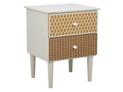 Vícebarevný noční stolek Mauro FerrettiBilato 43,5x38x55,5 cm