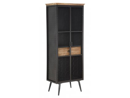 Barová komoda Mauro Ferretti Kalar 63x38,5x164 cm, černá/hnědá