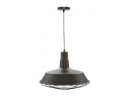 Závěsné svítidlo Mauro Ferretti Wariano Round, 46x32 cm, černá/měděná