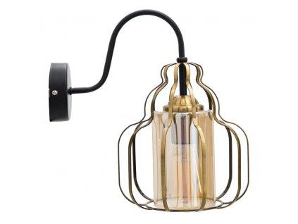 Nástěnná lampa Mauro Ferretti Okram A, 21x30x32 cm, zlatá/černá