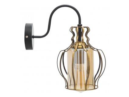 Nástěnná lampa Mauro Ferretti Okram B, 19x29x31 cm, zlatá/černá