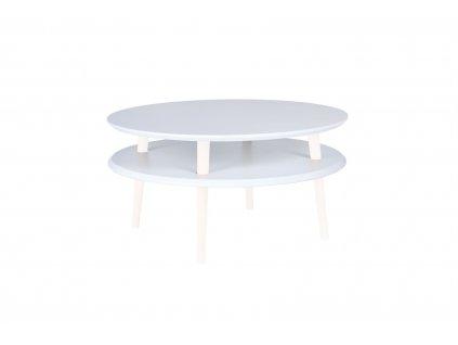 Bílý konferenční stolek Iram, 70x70x35 cm