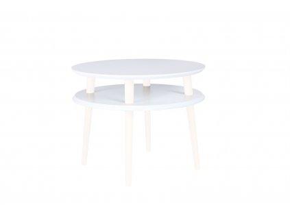Bílý konferenční stolek Iram Small, 57x57x45 cm