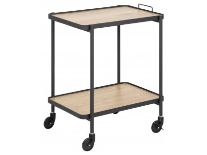 pic serv12 PhotoManagerPublicMasters Products 0000082168 carmi kitchen trolley shelves melamine matt wild oak metal pc rough matt black 56x40x68 5 act002
