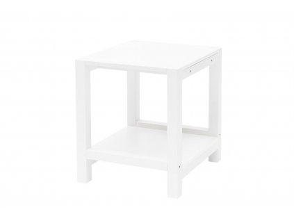 Bílý noční stolek Nerke, 35x40x40 cm