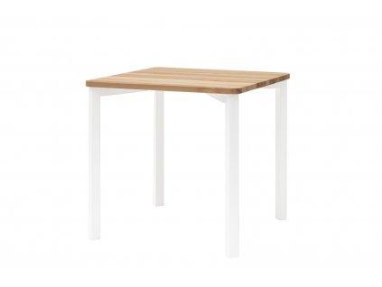 Jasanový jídlení stůl Jolke II, 80x80x75 cm, přírodní/bílá