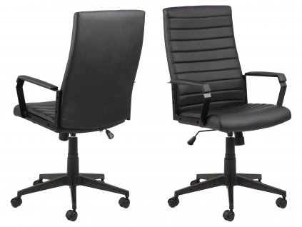 pic serv12 PhotoManagerPublicMasters Products 0000090344 charles desk chair black pu stitichings metal pc black orig