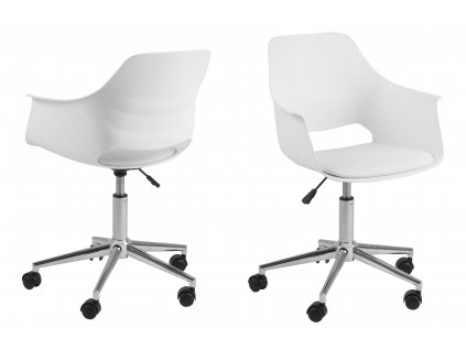 pic serv12 PhotoManagerPublicMasters Products 0000073020 ramona desk chair white seat white seat cushion chrome frame