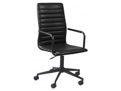 Šedá látková kancelářská židle Lyndon 45x58x103 cm