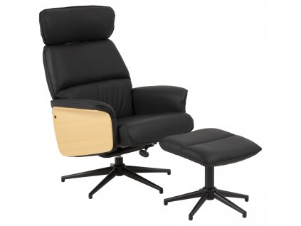pic serv12 PhotoManagerPublicMasters Products 0000088246 alura rest chair footstool dollaro black pu dl200 arm plywood oak col 5s pc rough black orig