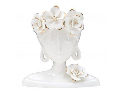 Bílá váza Mauro Ferretti Pastina, 21x21,7x14 cm