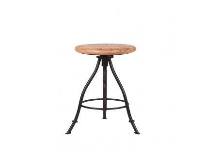 Černá/přírodní mangová stolička Jarmo