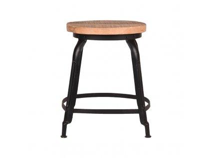 Černá/přírodní mangová stolička Hidlo