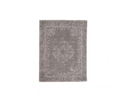 Antracitový bavlněný koberec Vint, 140x160 cm