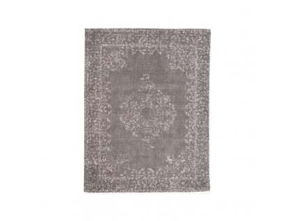 Antracitový bavlněný koberec Vint, 160x230 cm