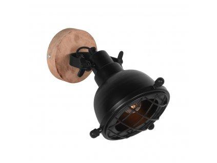 Černá kovová nástěnná lampa Vaart