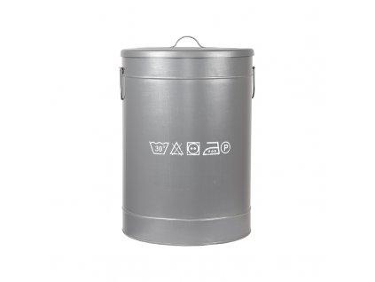 Šedý kovový úložný box LABEL51 Lokatio L, 58 cm