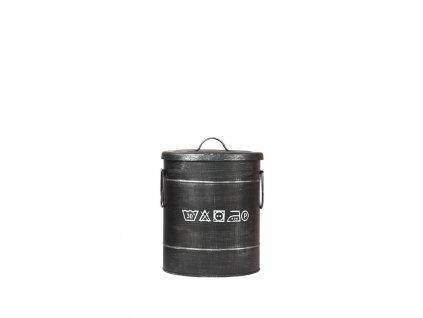 Černý kovový úložný box LABEL51 Lokatio S, 33 cm
