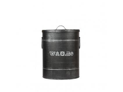 Černý kovový úložný box LABEL51 Lokatio M, 43 cm