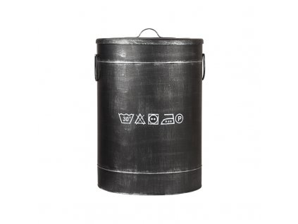 Černý kovový úložný box LABEL51 Lokatio L, 58 cm