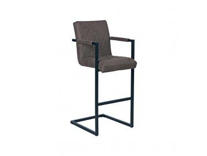 Antracitová barová židle Horsens