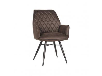Antracitová jídelní židle Bink