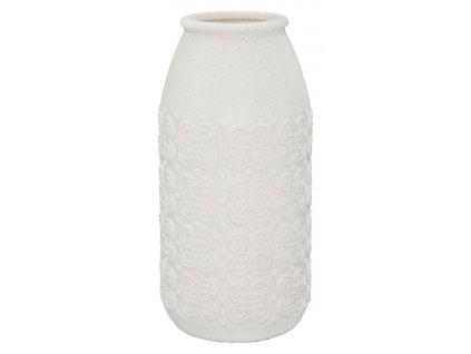 Bílá váza Mauro Ferretti Ciro, 50,5x23,5x23,5 cm