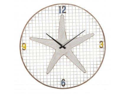 Bílé kovové nástěnné hodiny Mauro Ferretti Ternana, 57 cm