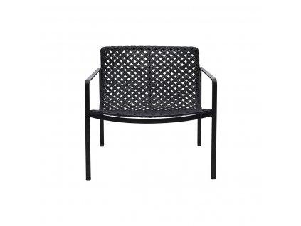 Černá ratanová zahradní židle House Doctor Habra
