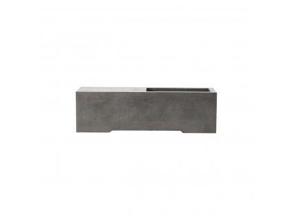 Šedá betonová lavice House Doctor Lets, 130x40x38 cm