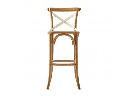 Barová židle Rivièra Maison Saint Etienne z dubového dřeva a rattanu